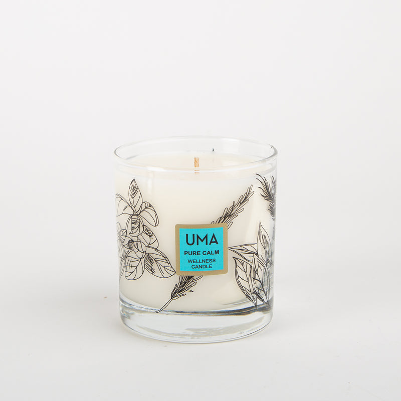 pure calm wellness candle aromatherapy by UMA at Secret Location Concept Store