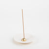 zen stoneware incense stick holder in white by Ume collection at Secret Location