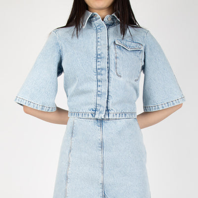 denim button down shirt by Ssheena at Secret Location