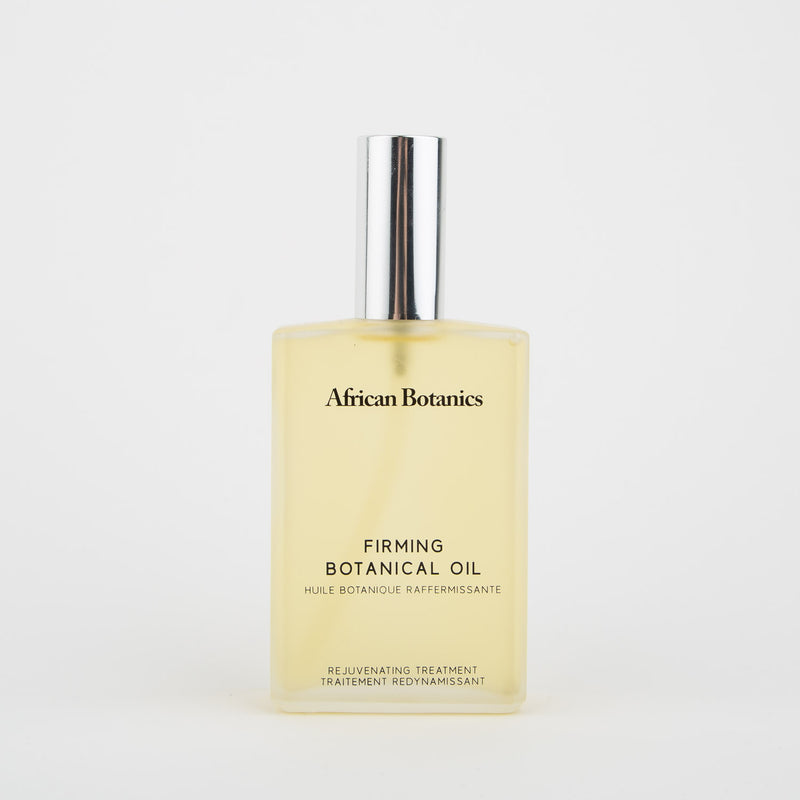 Marula firming botanical body oil skincare by African Botanics at Secret Location