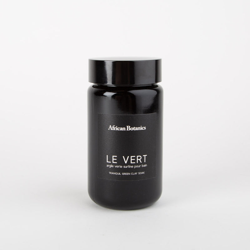 le vert tranquil green clay soak beauty product by African Botanics at Secret Location