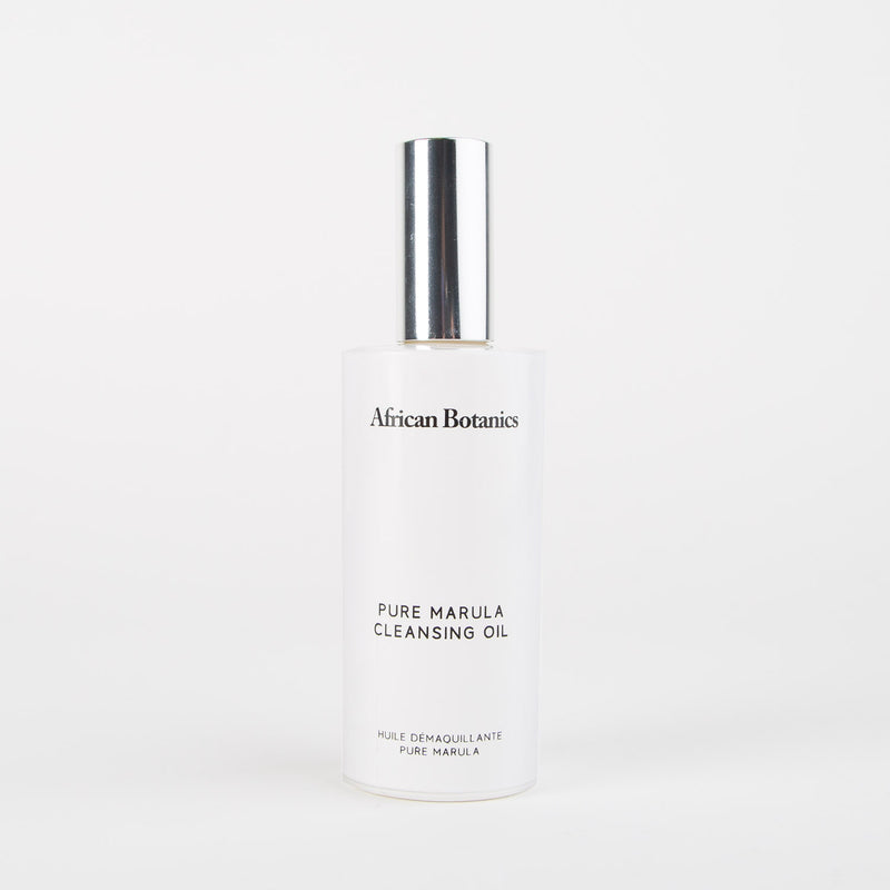 Pure marula cleansing oil skincare product by African Botanics at Secret Location