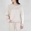Etappe knitted jumper in cream by Frenken at Secret Location