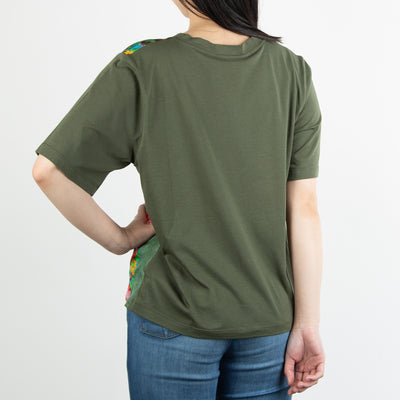 Patchwork T-Shirt, green