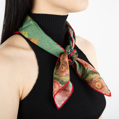 luxury printed silk scarf by Pierre Louis Mascia at Secret Location Concept Store