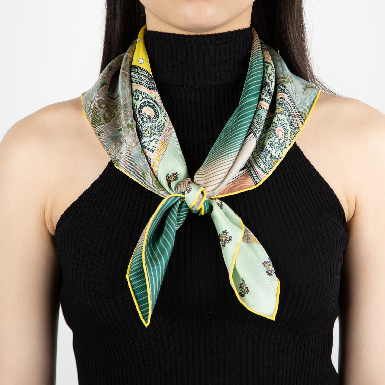 printed luxury silk scarf by Pierre Louis Mascia at Secret Location Concept Store