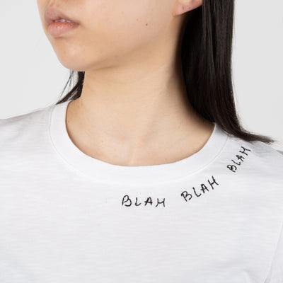 """Blah Blah Blah"" T-shirt, white"