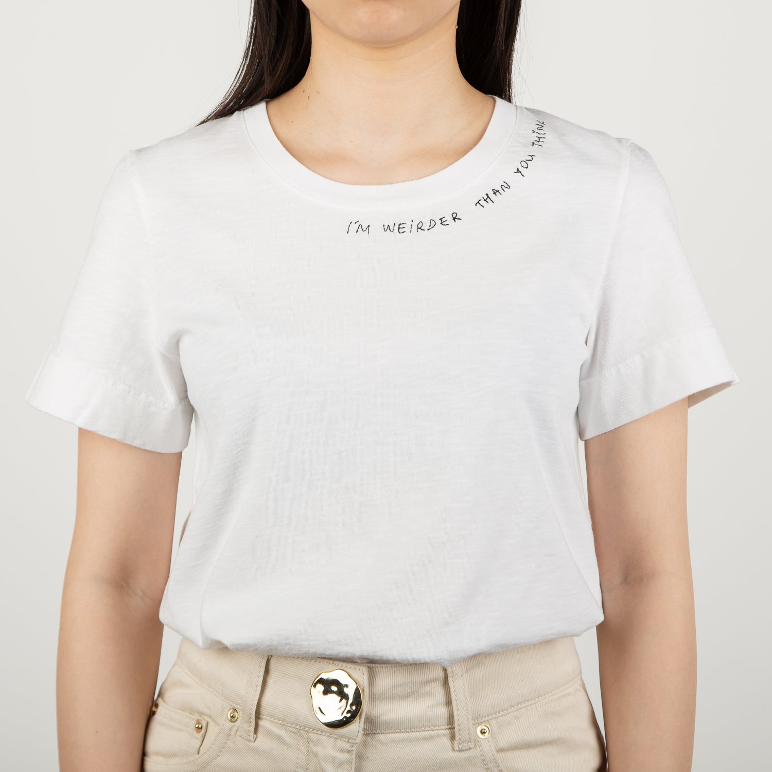 """I'm Weirder Than You Think"" T-shirt, white"