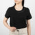 black cotton shirt with phrase by Secret Location
