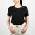 woven black cotton shirt with phrase by Secret Location