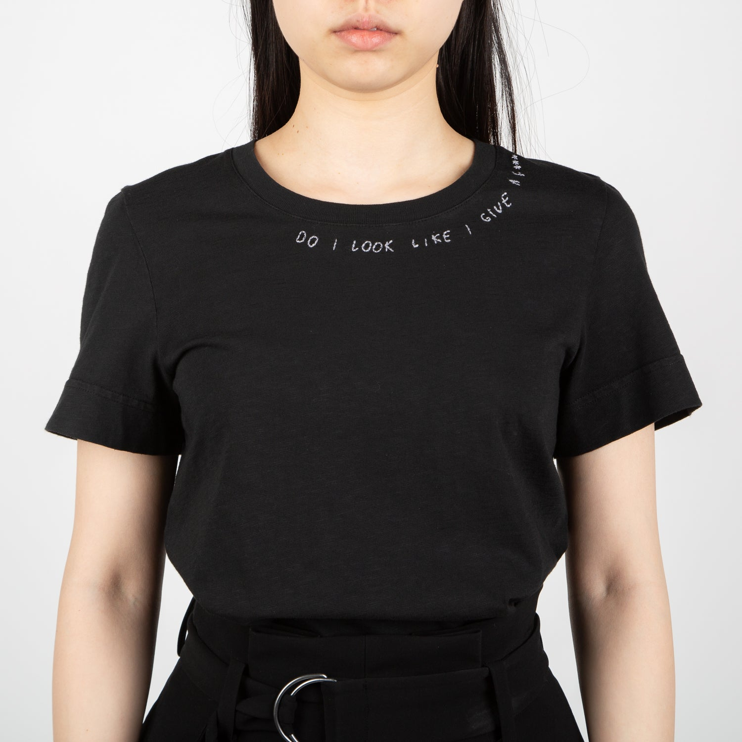 """Do I Look Like I Give a F***"" T-shirt, black"