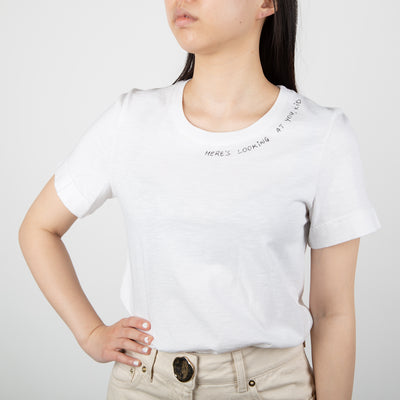 White cotton t-shirt basics line from Secret Location
