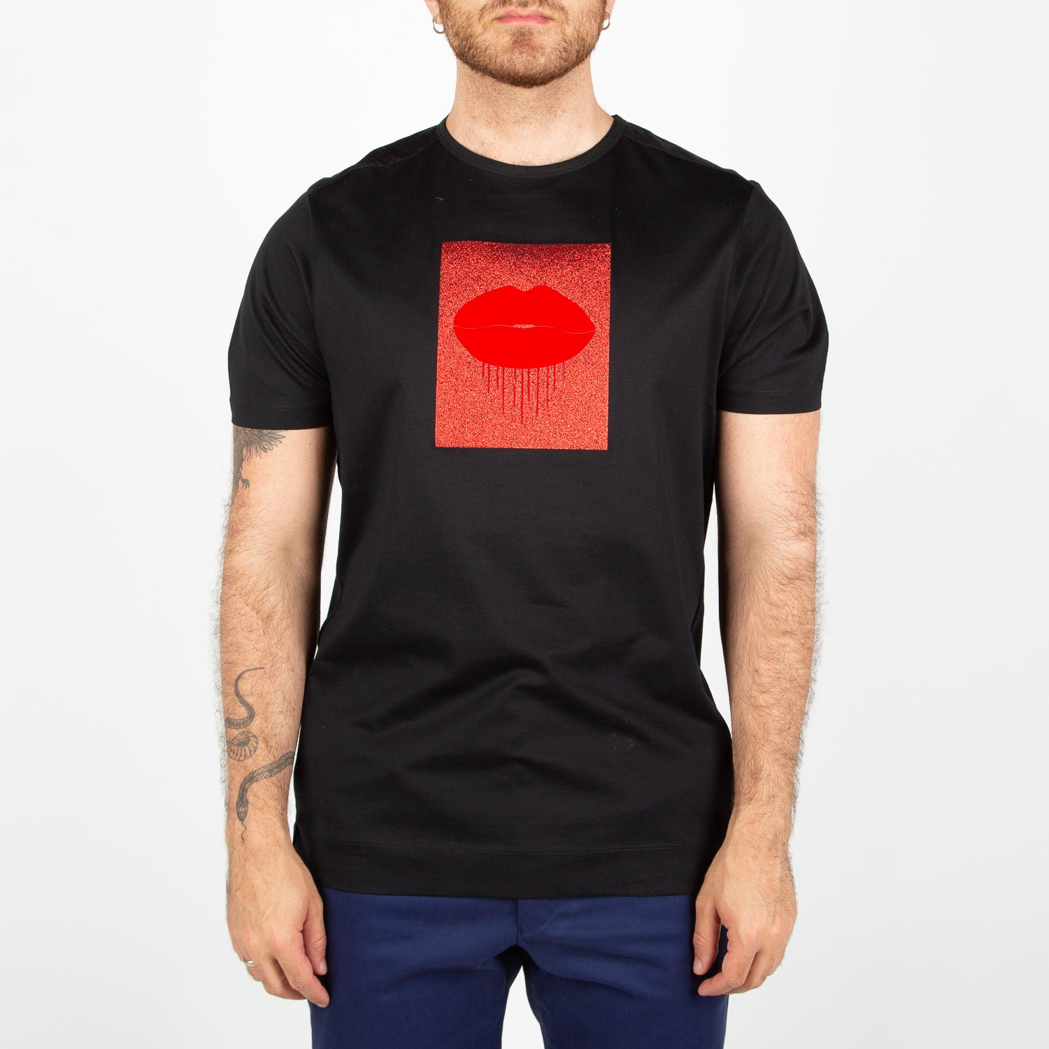classic t-shirt with velvet print bored eaux by Limitato at Secret Location