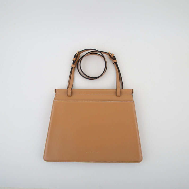 leather bag in camel by Marge Sherwood at Secret Location Concept Store
