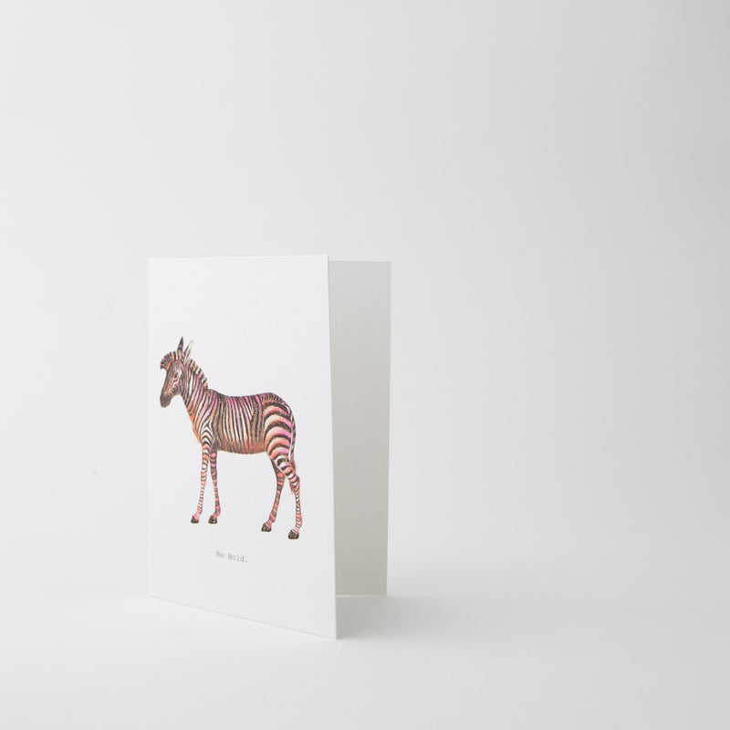 bold zebra greeting card by Tokyo Milk at Secret Location