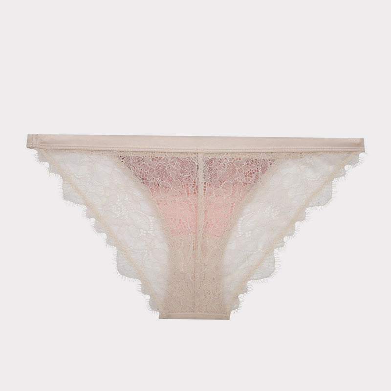 luxury lace brief in ivory and pink by Love Stories at Secret Location Concept Store