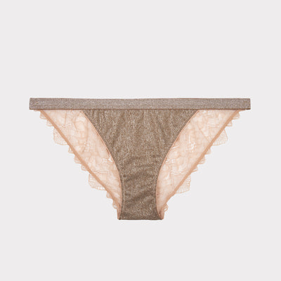 wild rose luxury briefs with lace by Love Stories at Secret Location