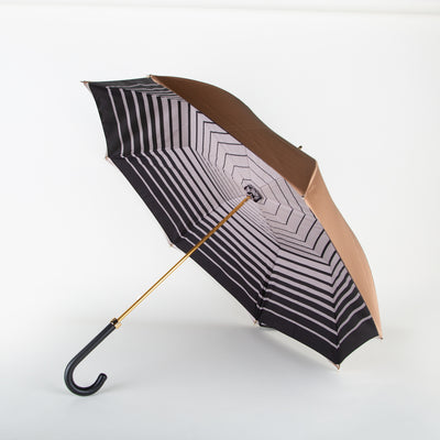 Ivory & Striped Interior Umbrella