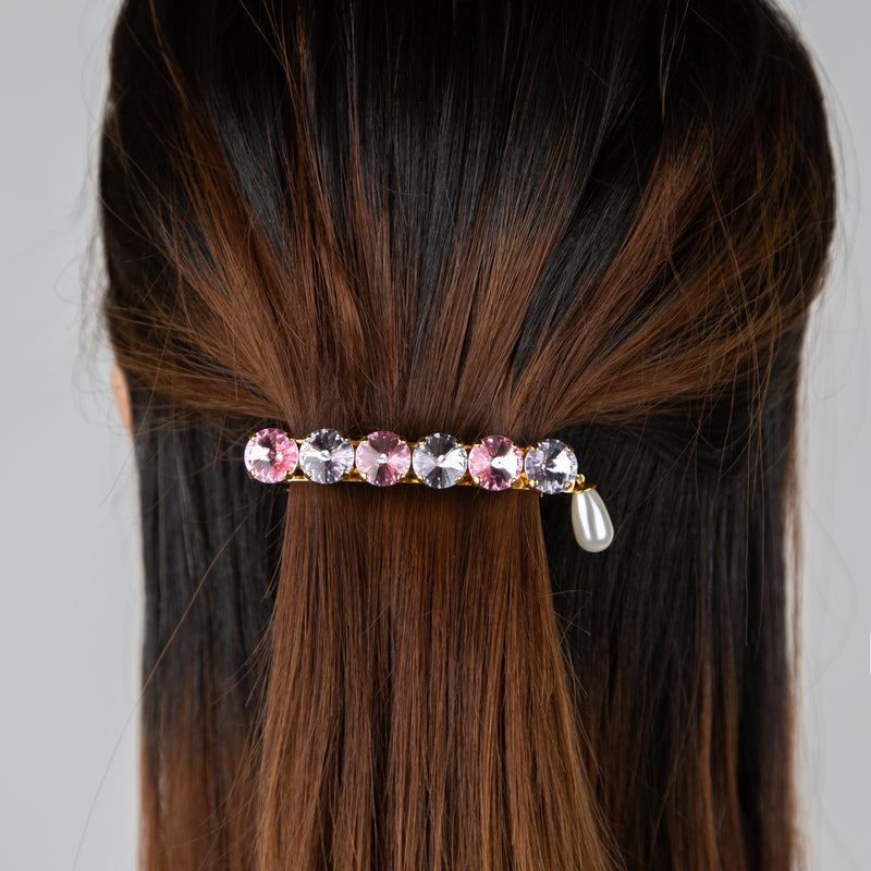 gold and crystal jewelled hair clip by Chabaux jewelry at Secret Location