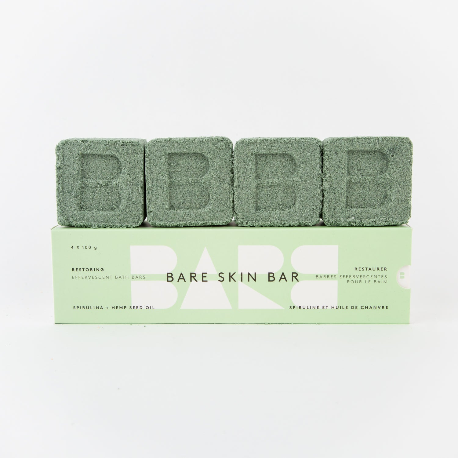spirulina and hemp seed oil bath bar pack