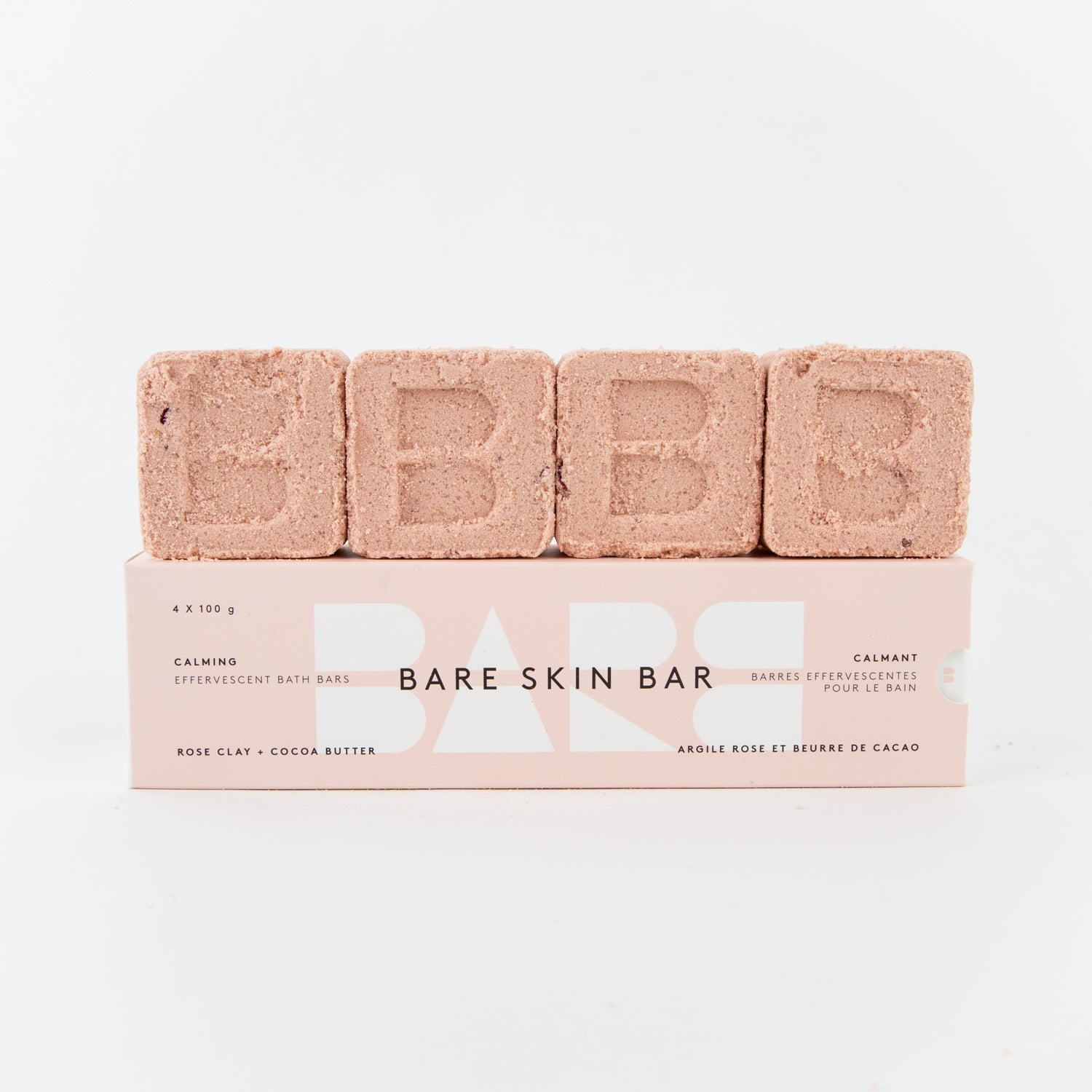 healing bare skin bar rose clay bath pack
