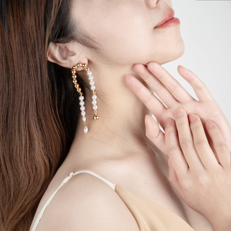 gold and pearl earring cuffs by joomi lim
