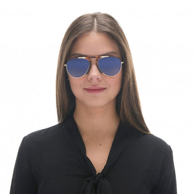 Zeraf Sunglasses, gold & blue