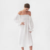 Atlanta Linen Dress, white