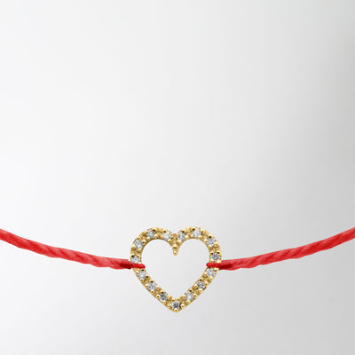 diamond paved heart charm bracelet by Redline at Secret Location Concept Store