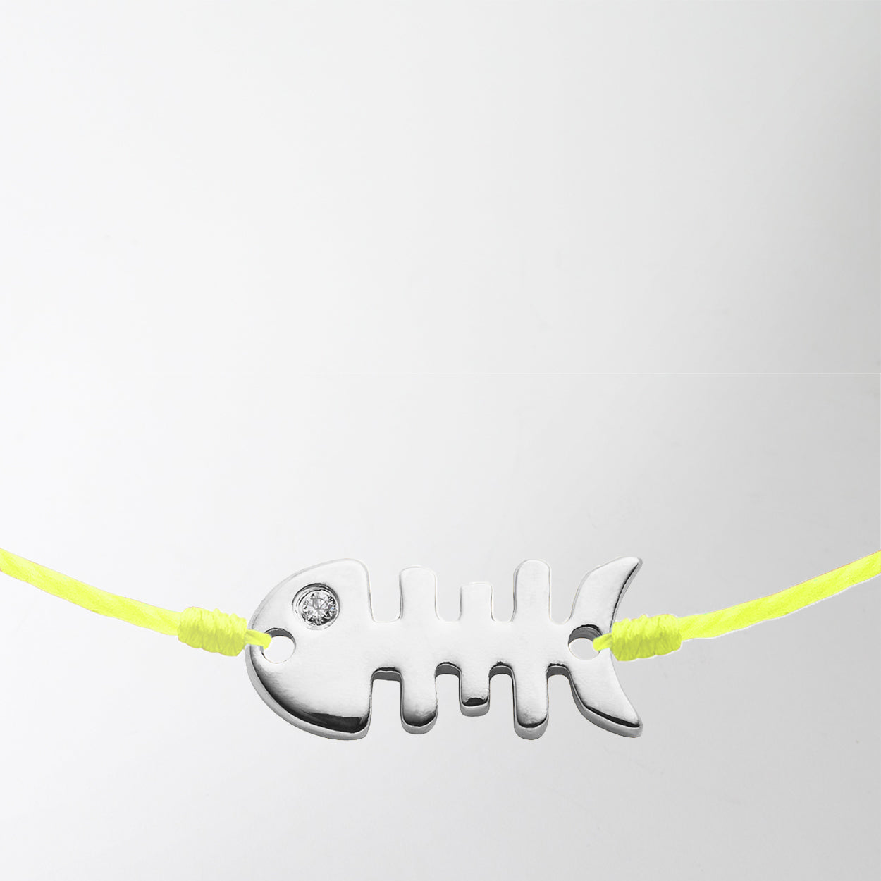 Fish Bones Bracelet in Lime