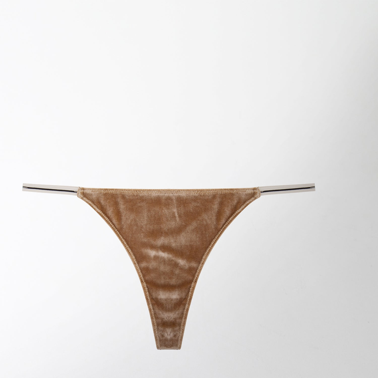 velvet and lace beige thong by Love Stories Intimates at Secret Location Concept Store
