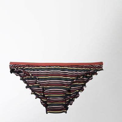 ruffle brief in stripe by Love Stories Intimates at Secret Location Concept Store