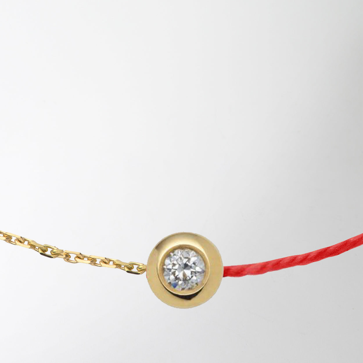 diamond charm two-tone bracelet by Redline at Secret Location Concept Store