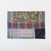 printed wool blanket in floral and plaid luxury design