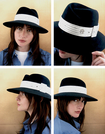 Virginie Fedora Hat, cruising stripe