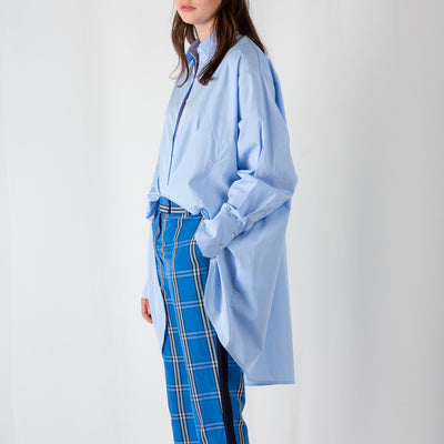 Oversized button-down shirt double placket by Frenken at Secret Location