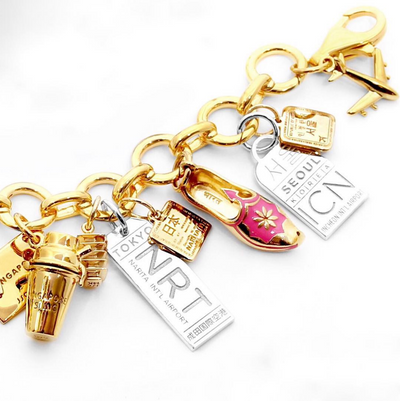 Mini-Luggage Tag Charm, St Tropez