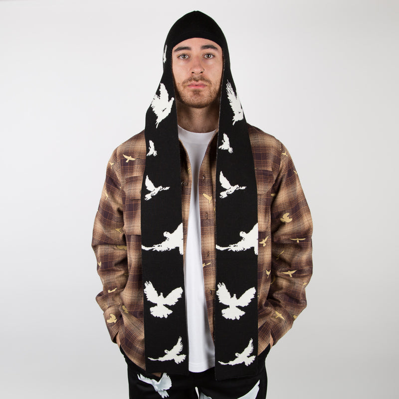 birds beanie scarf, mens, at secret location concept store