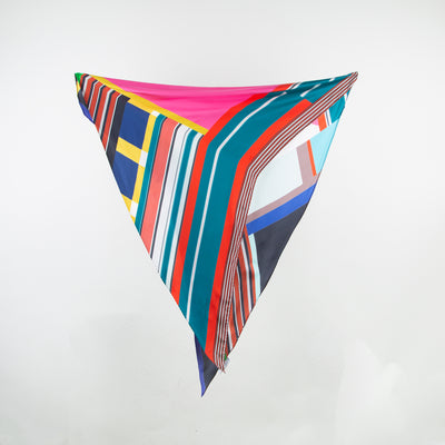 Multicoloured Patchwork Scarf