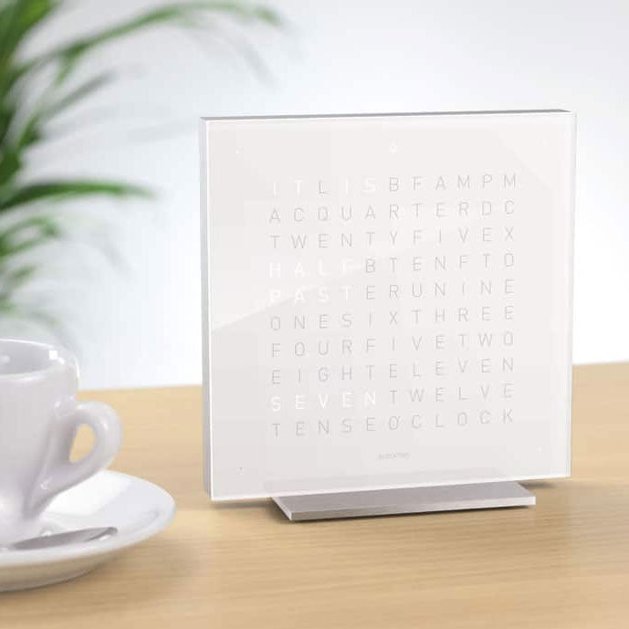 Touch Table Clock, white
