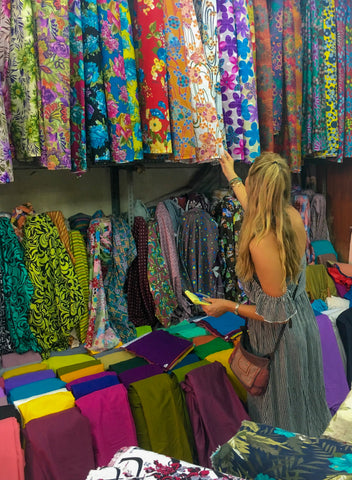 Bali markets shopping materials august effects