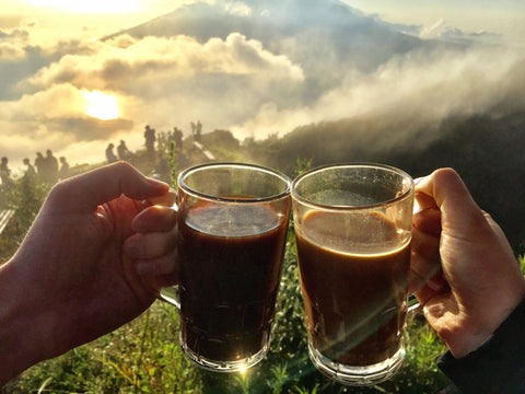 Coffee at Mt Batur Sunrise in Bali