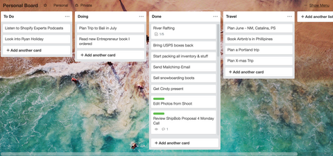 Organize Organization Lists Trello