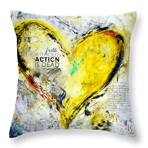 Faith Without Action Is Dead - Throw Pillow - ivanguaderramaonlinestores