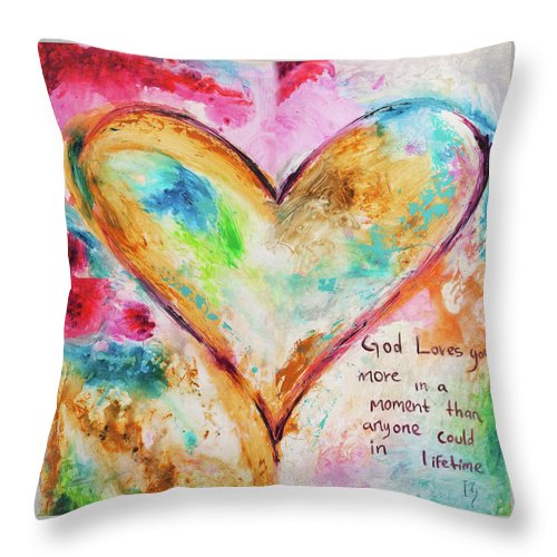 God Loves You - Throw Pillow - ivanguaderramaonlinestores
