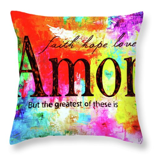 Amor - Throw Pillow - ivanguaderramaonlinestores