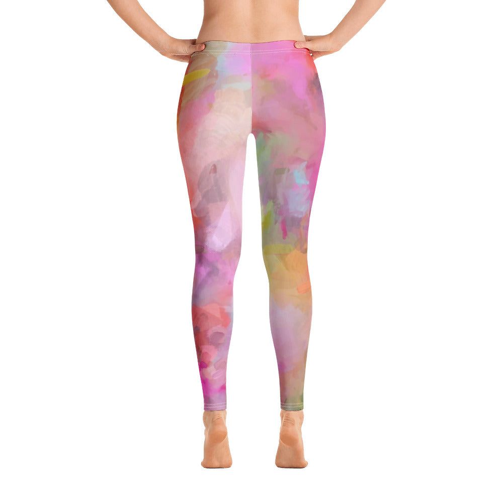 Pink abstract Leggings - ivanguaderramaonlinestores