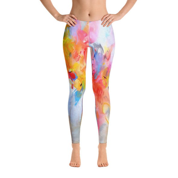 Abstract Art Leggings by Ivan Guaderrama - ivanguaderramaonlinestores
