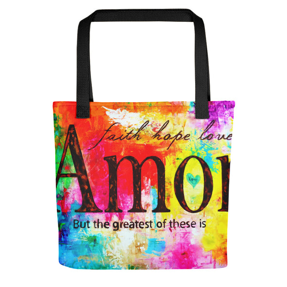 Faith Hope Love- Tote bag - ivanguaderramaonlinestores