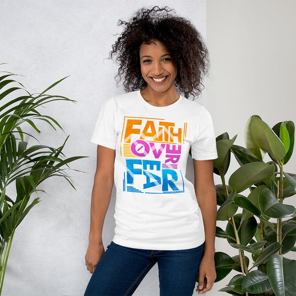 Faith Over Fear Short-Sleeve Unisex T-Shirt - ivanguaderramaonlinestores